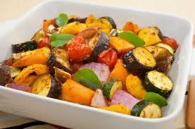 cooked veggies